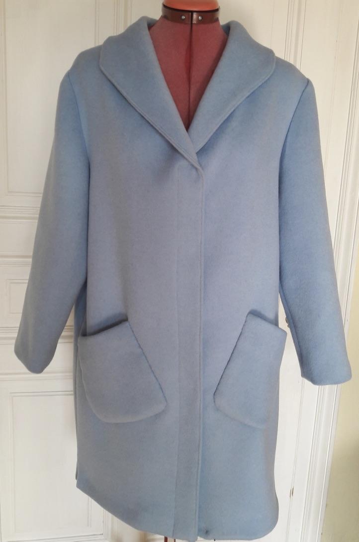 Mantel aus Wolldouble