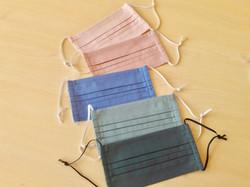 Faltenmaske aus 100% Baumwolle mit 60°C waschbar