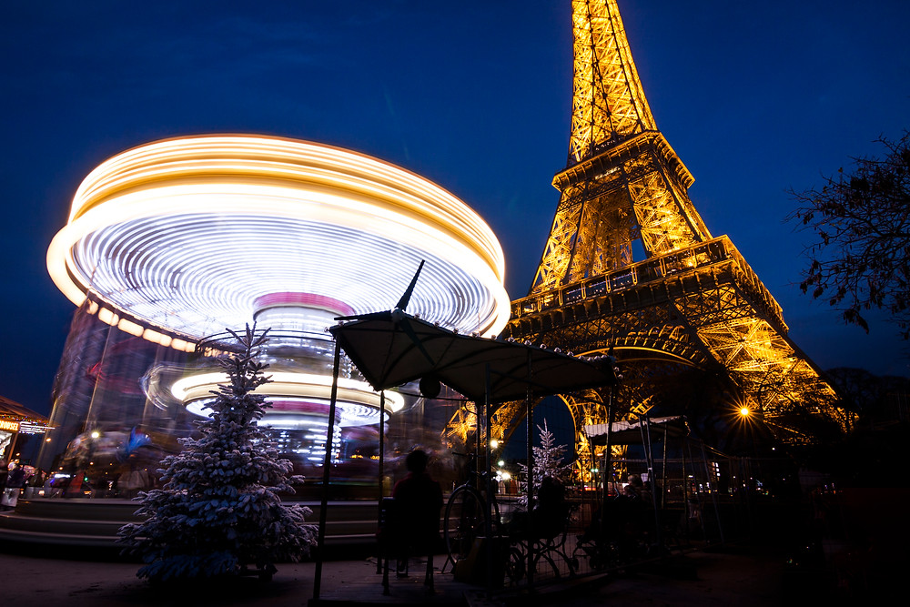 Eiffel Tower and Carrousel at Dusk