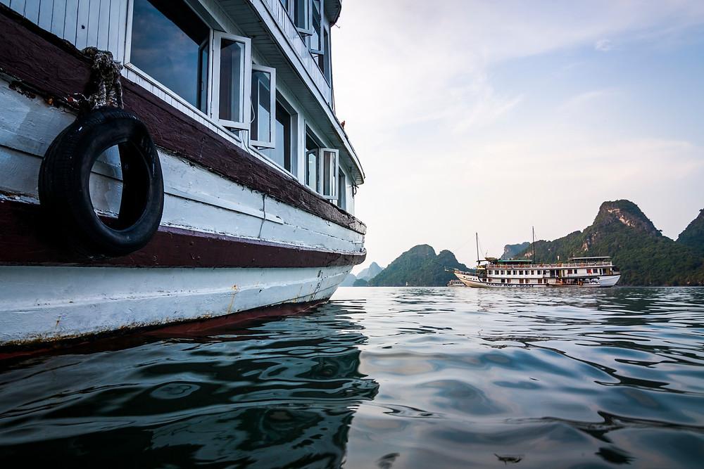 Boats in Halong Bay, Vietnam