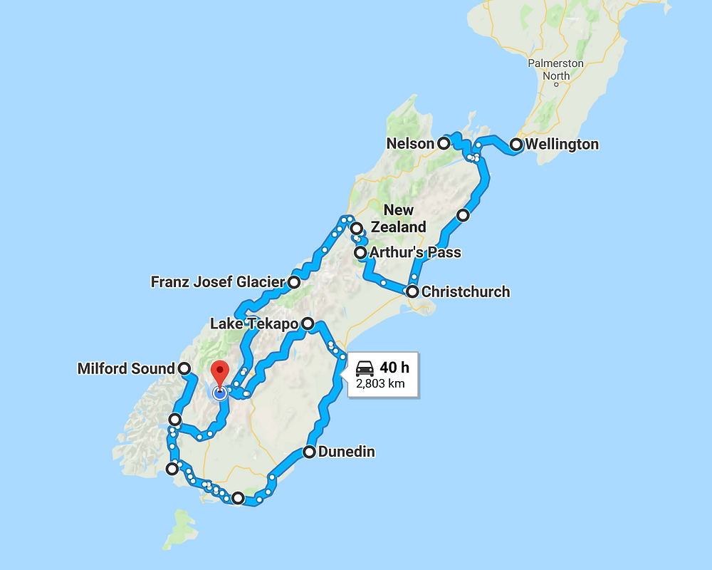 New Zealand South Island 20 Day Road Trip