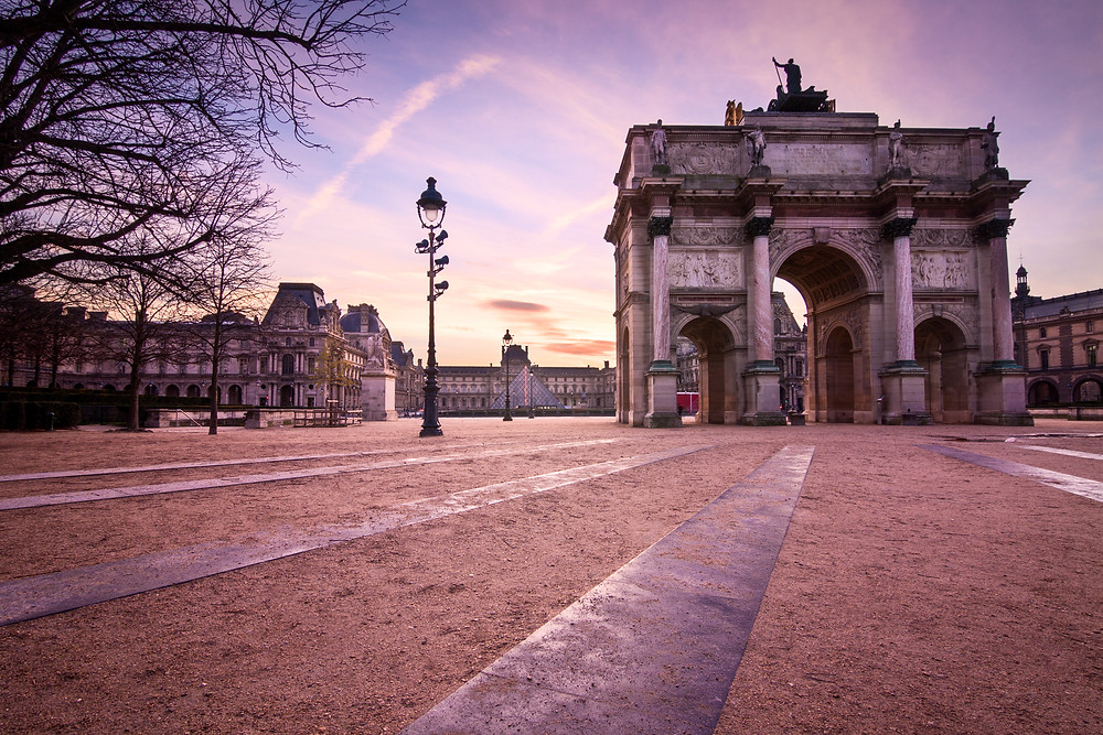 Arc/Archway near Louvre at Sunrise