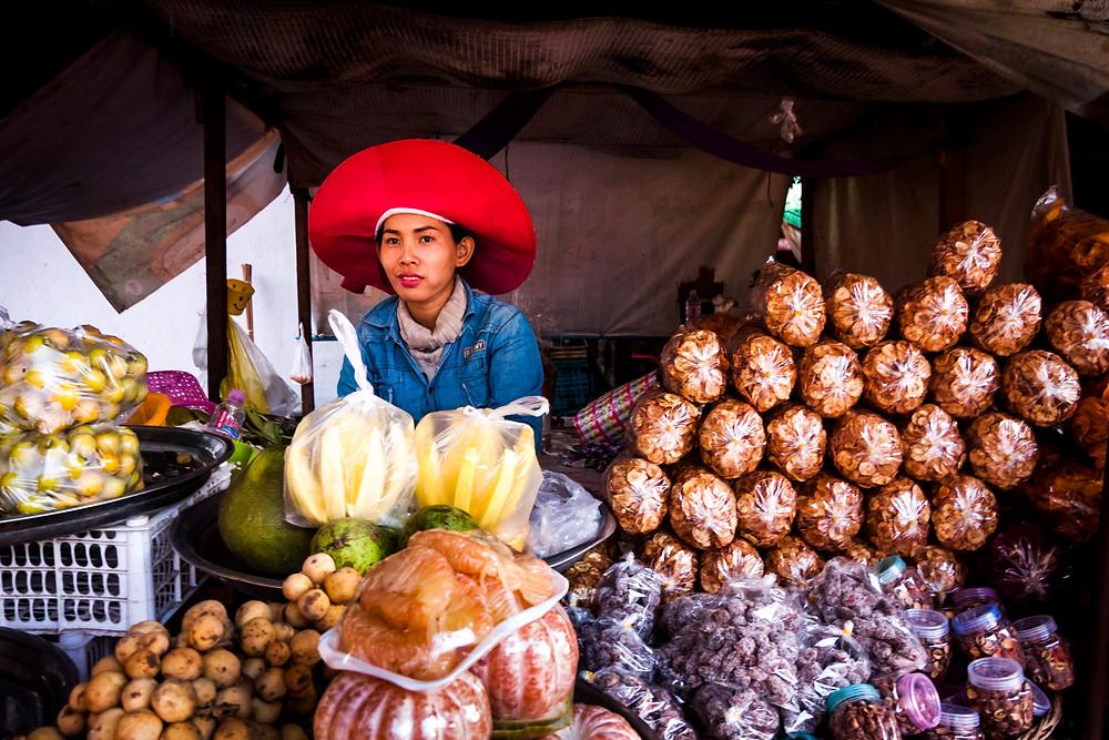 Stueng Saen Market Stall, Cambodia