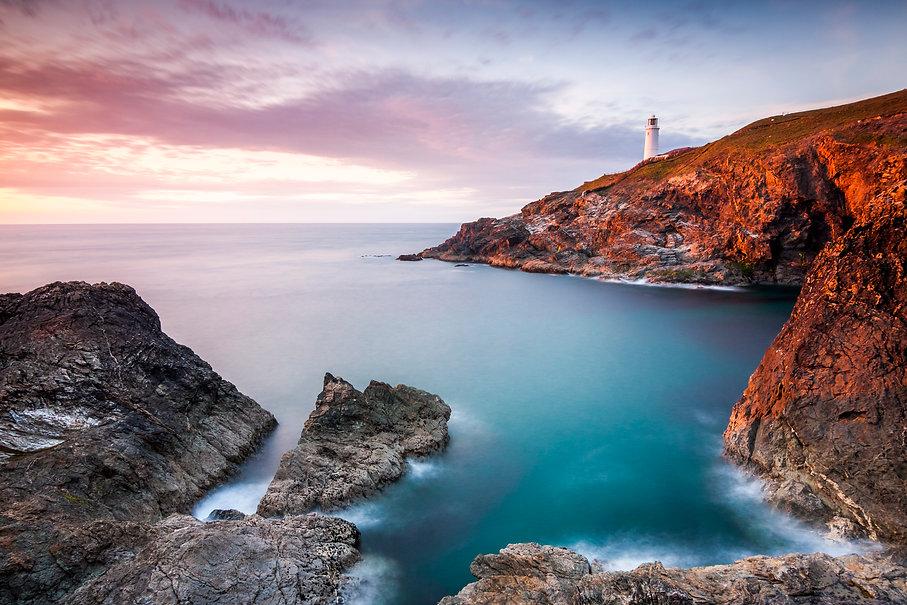 Sunset At Trevose Head, Cornwall