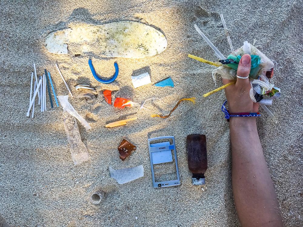 Plastic Pollution, Selingan Island, Turtle Islands National Park, Sabah, Borneo
