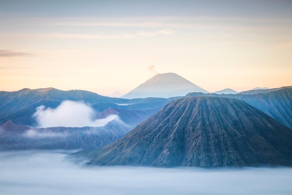 Sunrise at Mount Bromo National Park, East Java, Indonesia