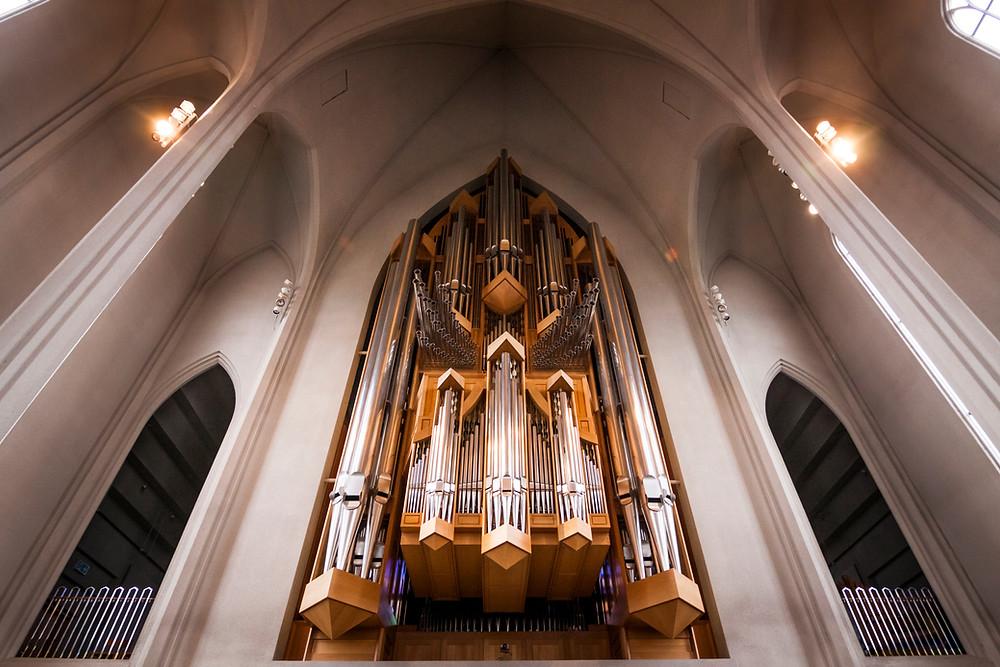 Inside the Hallgrimskirkja Church, Reykjavik, Iceland