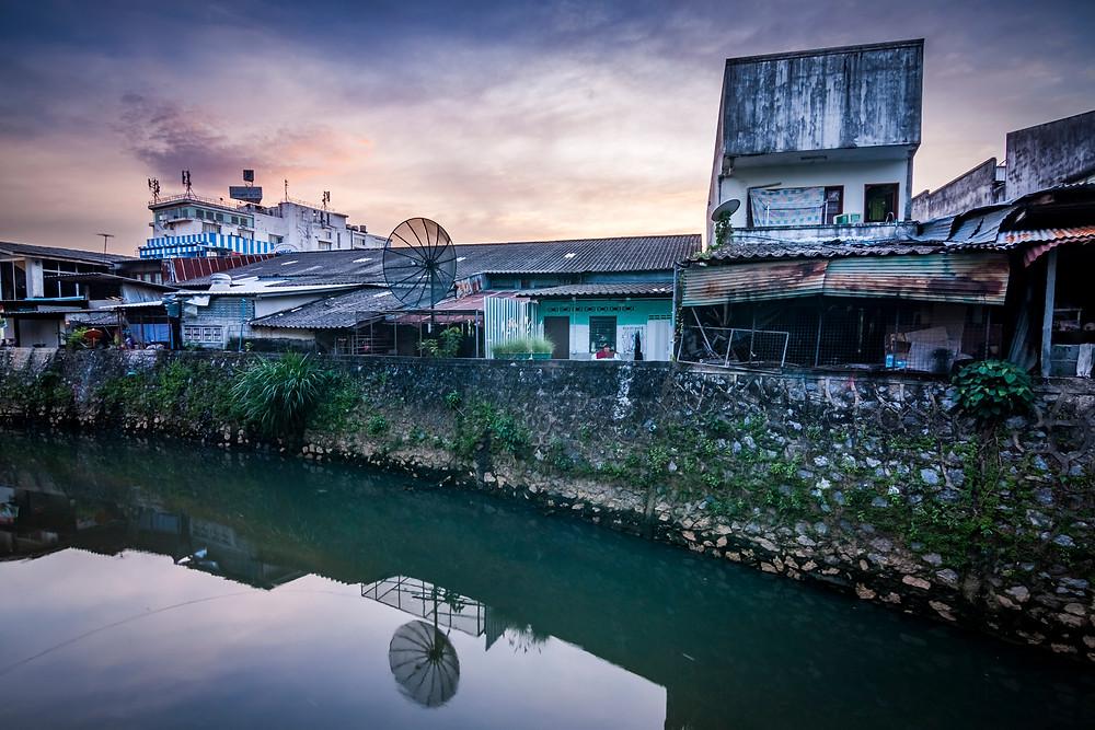 Phuket Town, Thailand At Sunset