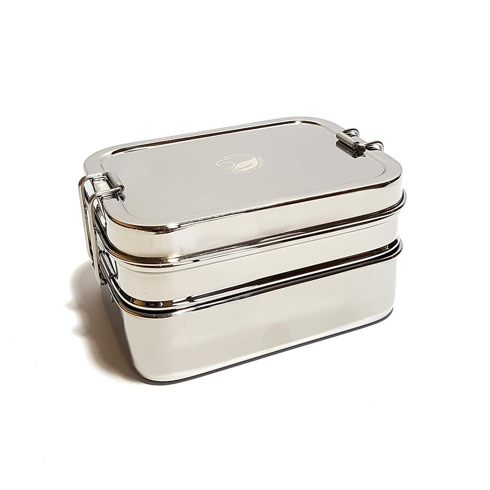 one green bottle stainless steel lunch box containers reusable eco friendly sustainable zero waste