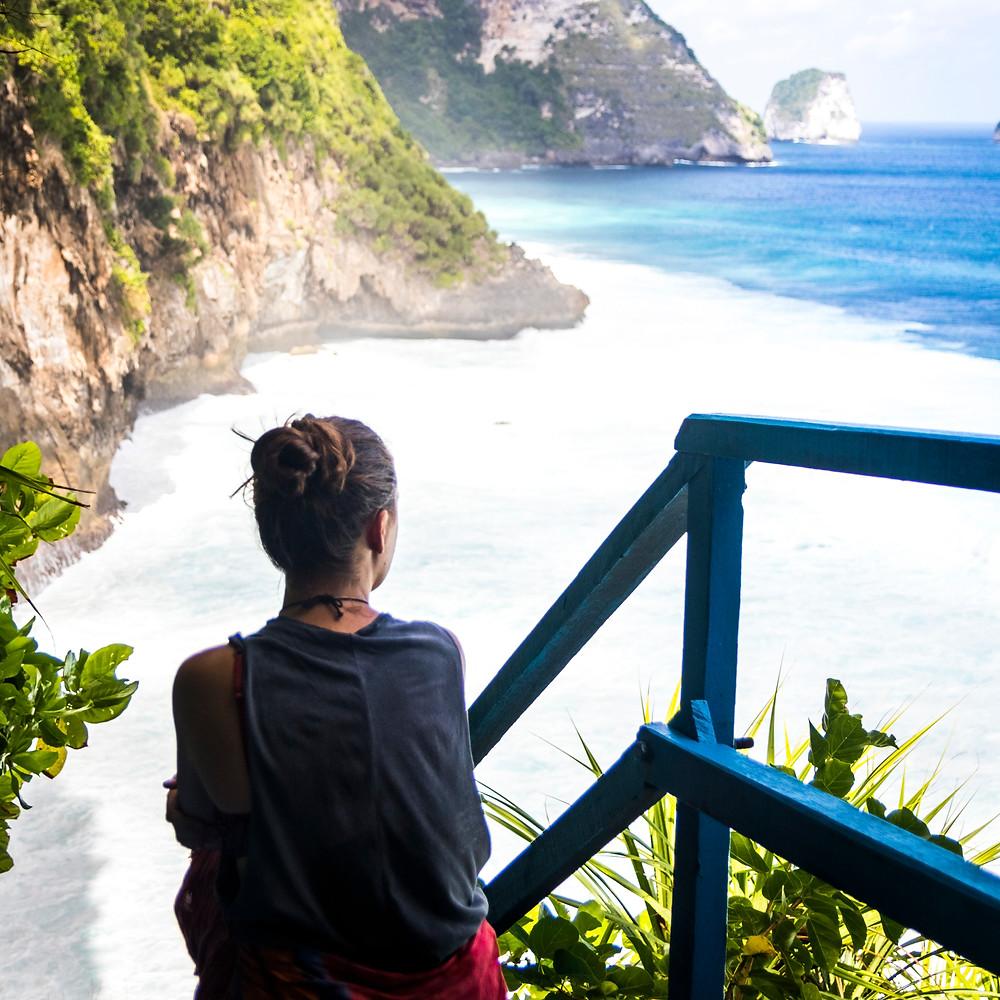 Peguyangan Waterfall, Blue Stairs, Nusa Penida, Bali, Indonesia