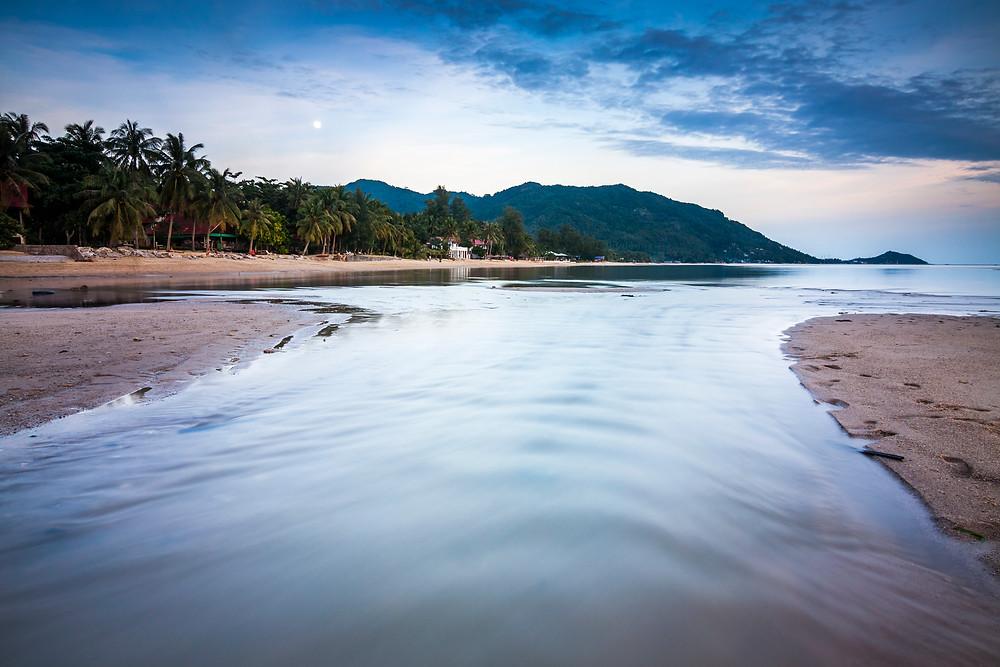 Moon Rising over Baan Tai Beach, Koh Phangan, Thailand