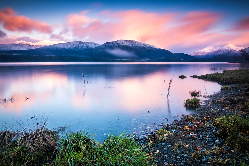 Sunrise At Lake Te Anau, South Island, New Zealand