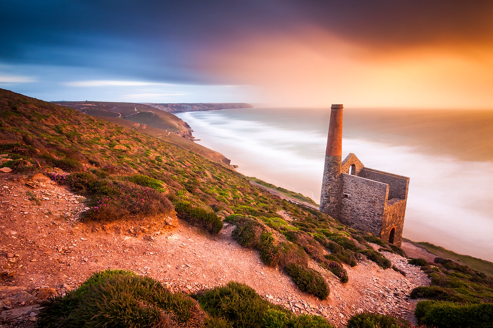 Wheal Coates Mine, St Agnes, Sunset, North Cornwall Coast Road Trip 1 Week 2 week Itinerary, landscape photography
