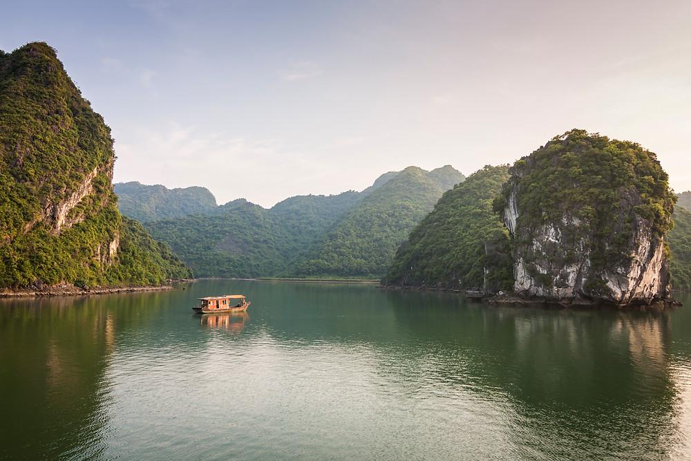 Halong Bay, Vietnam at Sunset