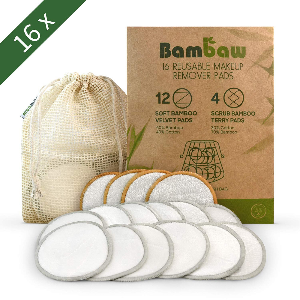 bambaw reusable make up remover pads cotton Zero Waste Plastic Free Eco Friendly Sustainable