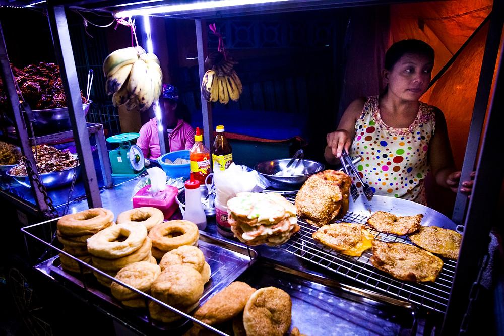 Food Vendor, Hoi An's Night Market, Vietnam