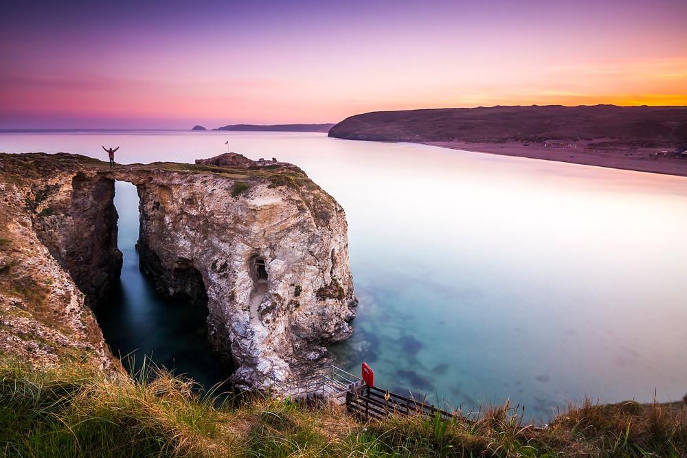 Perranporth Beach, Sunrise, North Cornwall Coast Road Trip 1 Week 2 week Itinerary, landscape photography