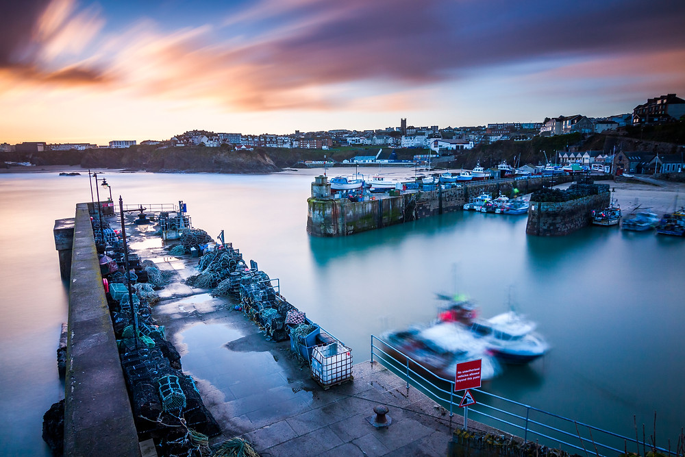 Newquay Harbour, Sunrise, North Cornwall Coast Road Trip 1 Week 2 week Itinerary, landscape photography