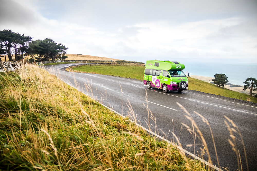 Campervan, Otago Peninsula, Dunedin, South Island, New Zealand