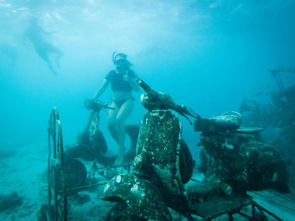 Snorkelling, Vespas, Gili Eco Trust Biorocks, Gili Trawangan, Indonesia