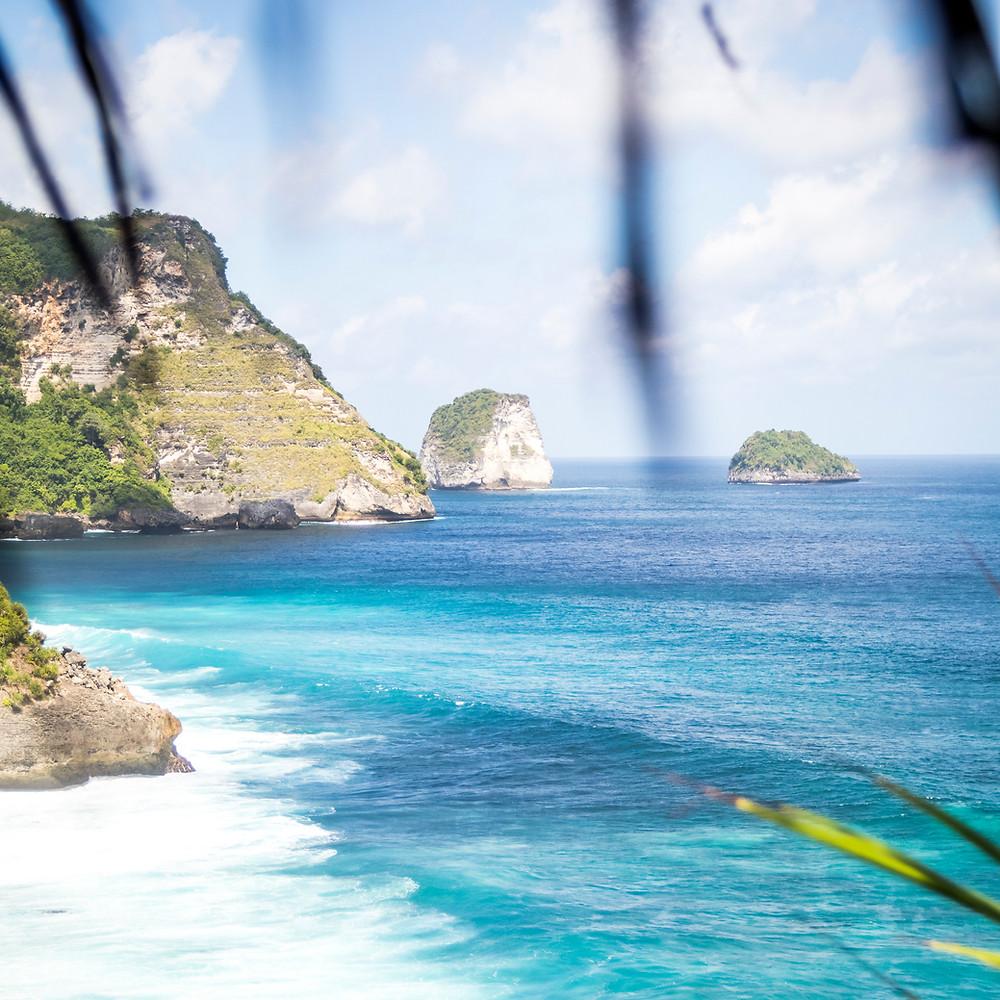 The View From Peguyangan Waterfall, Blue Stairs, Nusa Penida, Bali, Indonesia