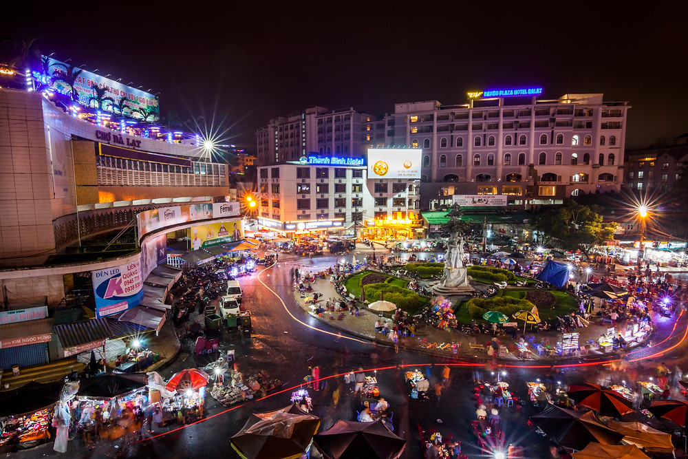Da Lat Night Market, Vietnam