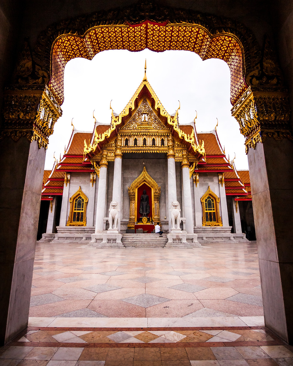 Wat Benchamabophit, Marble Temple, Bangkok, Thailand