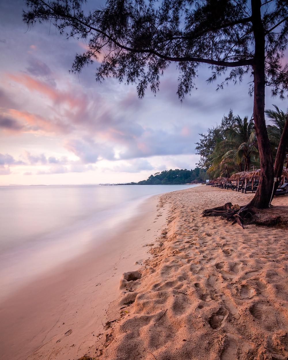 Sunset at Otres Beach, Sihanoukville, Cambodia