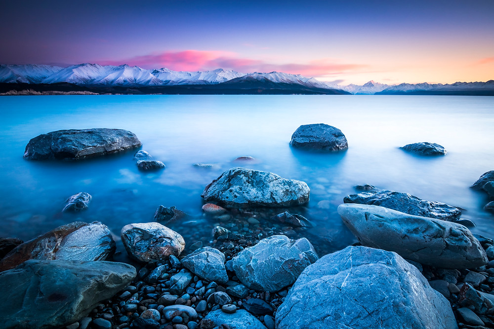 Lake Pukaki, Mount Cook, Sunrise, Landscape Photography, South Island, New Zealand