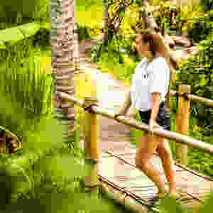 Exploring Rice Fields Near Ubud, Bali, Indonesia. Sustainable Travel Tips. Eco Travel Tips. Beginners Guide. Eco Friendly Essential Items Packing List