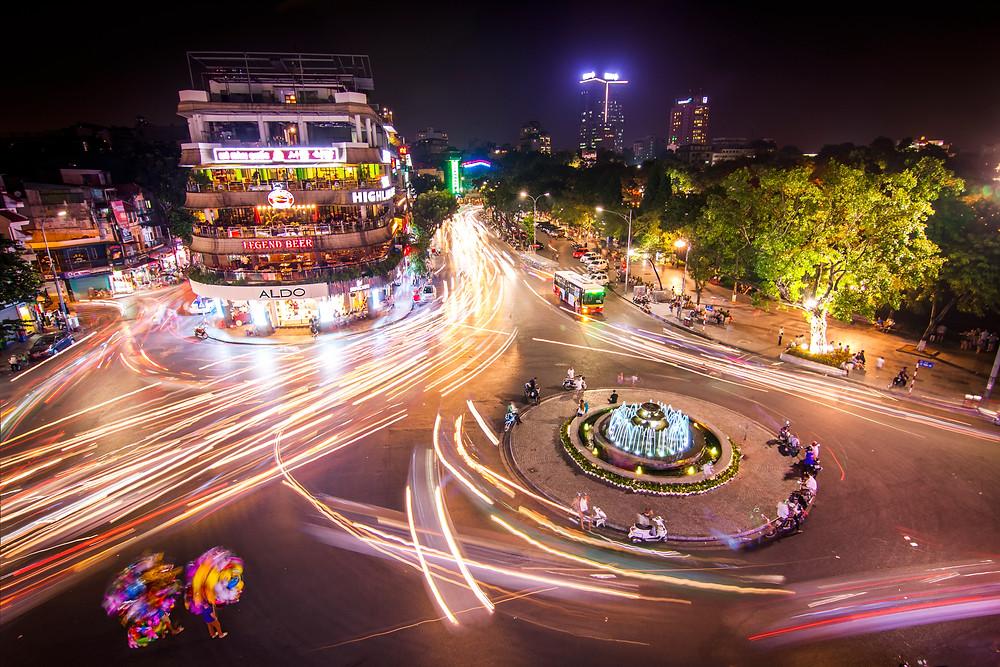 Hanoi, Vietnam at night (Long Exposure)