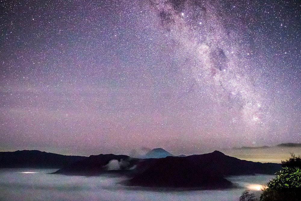 Milky Way at Mount Bromo National Park, East Java, Indonesia