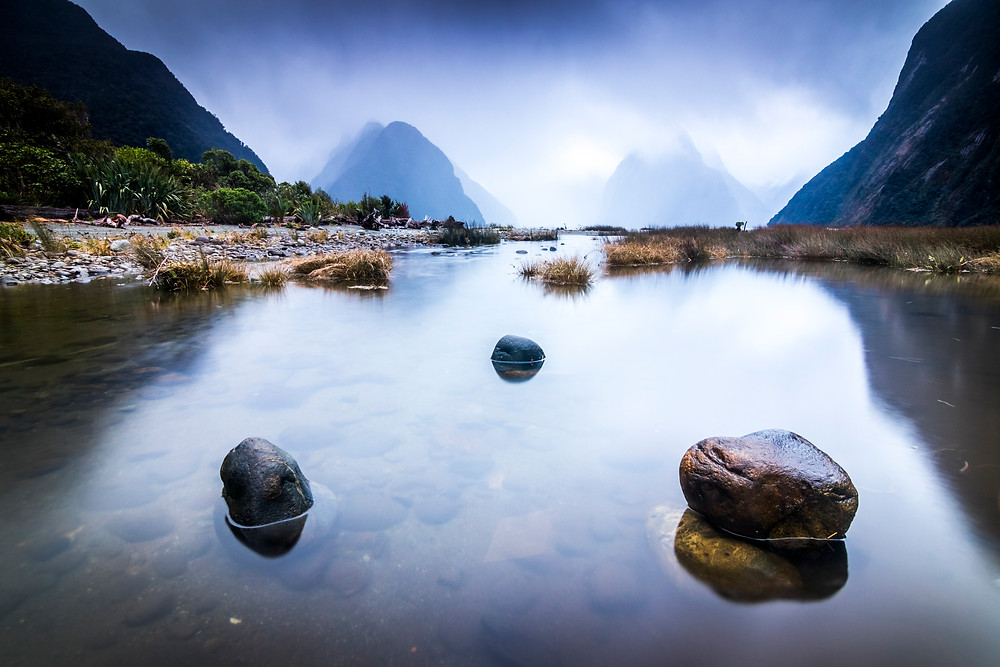 Rain At Milford Sound, Fiordlands National Park, South Island, New Zealand