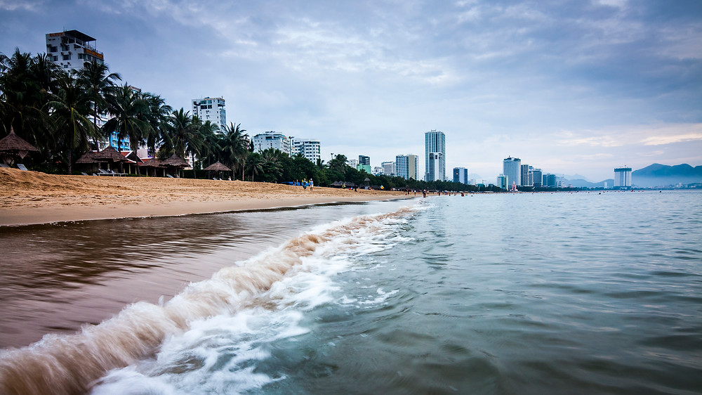 Nha Trang Beach and Skyline, Vietnam