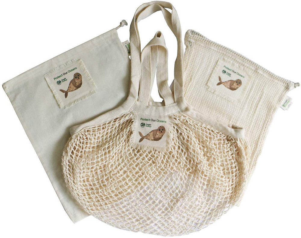 Reusable Cotton Produce Bags Eco Friendly Ethical Sustainable Natural Zero Waste Plastic Free