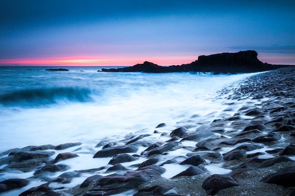Bude Breakwater at sunset, North Cornwall Coast Road Trip 1 Week 2 week Itinerary, landscape photography