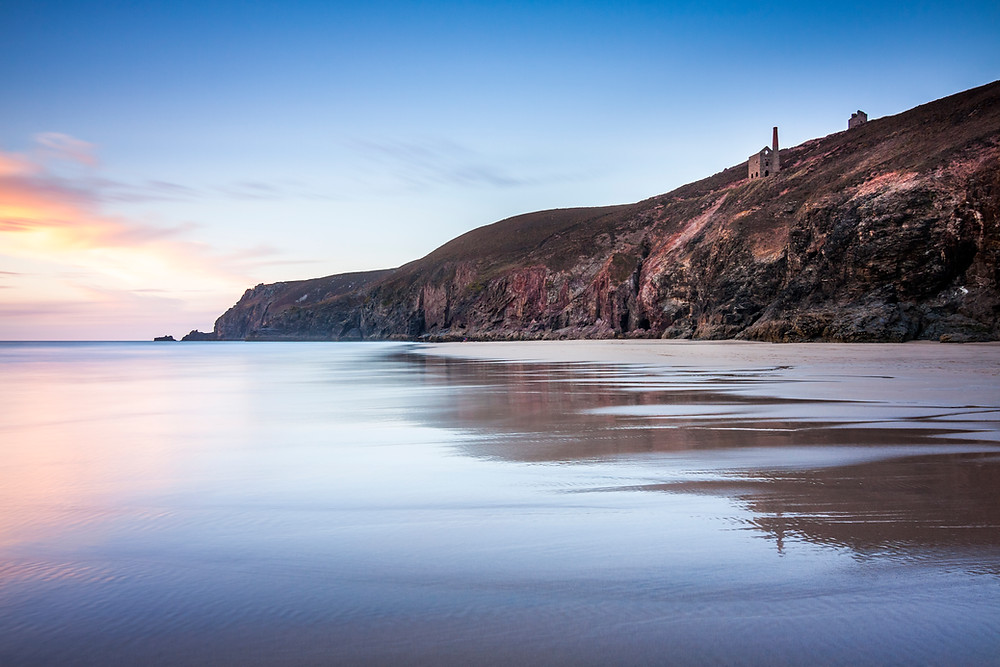sunset at chapel porth beach towanroath wheal coates cornwall best beaches must visit what to do where to go top 5