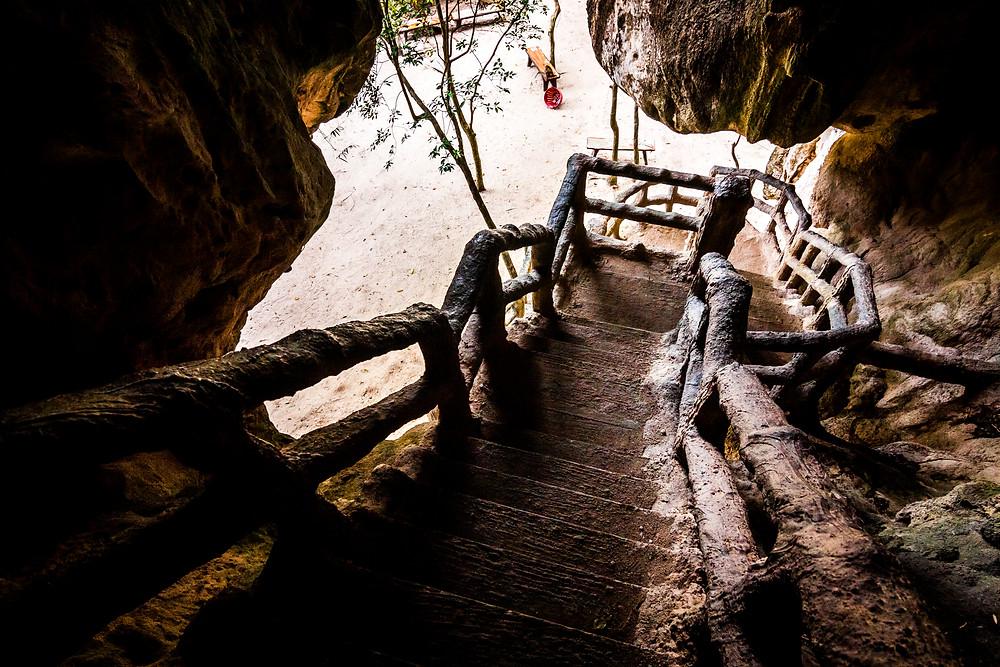 Khao Khanap Nam Mountain Cave Stairs, Krabi, Thailand