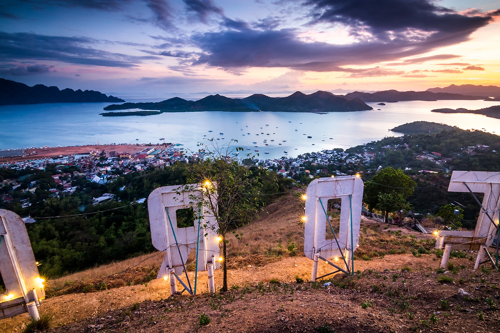 Sunset, Mt Tapyas View Point, Coron Town, Busuanga, The Philippines