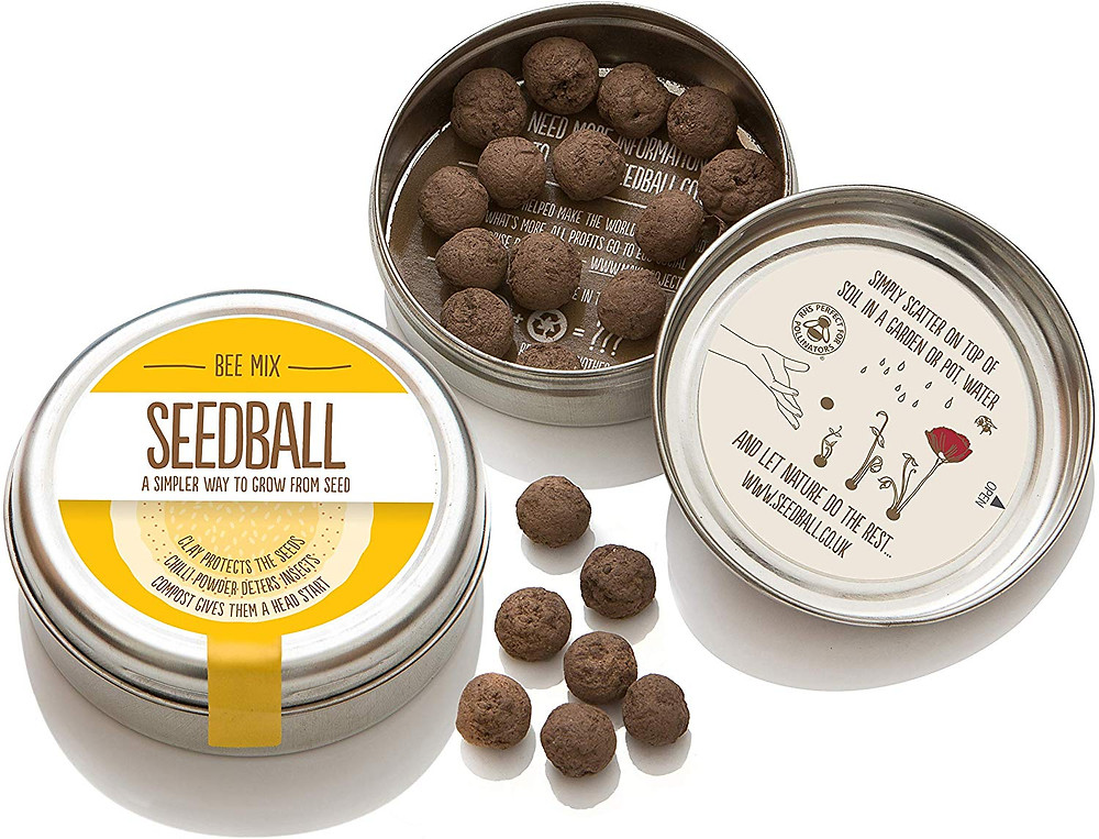 Bee Friendly Seed Balls Eco Friendly Ethical Sustainable Natural Zero Waste Plastic Free