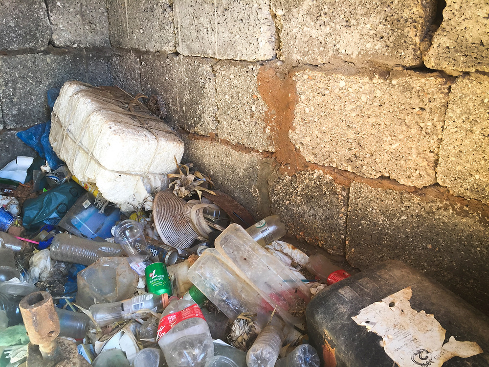 Plastic Bottles, Litter and Pollution, Comino Island, Malta, Beach Clean Up