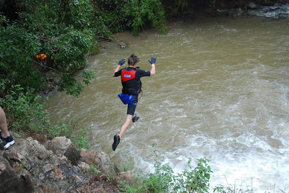 Cliff Jump, Canyoning, Da Lat, Vietnam