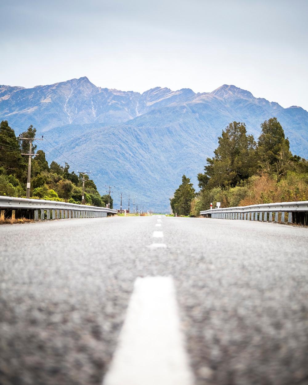Mountains Near Franz Josef Glacier, South Island, New Zealand