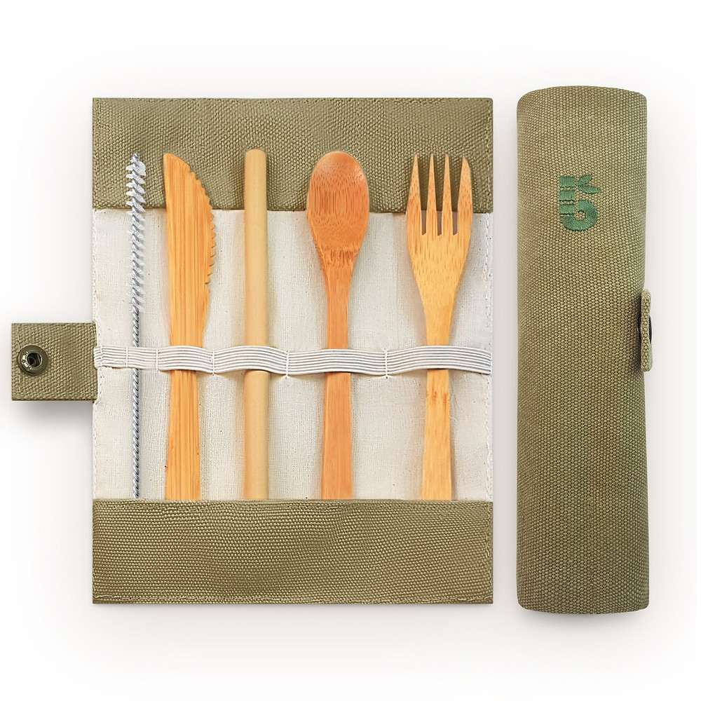 Bambaw Bamboo reusable biodegradable cutlery set Zero Waste Plastic Free Eco Friendly Sustainable