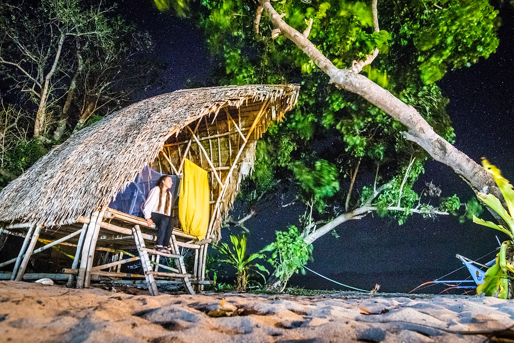 TAO, Beach Hut At Night, Ginto Island, Palawan, Philippines