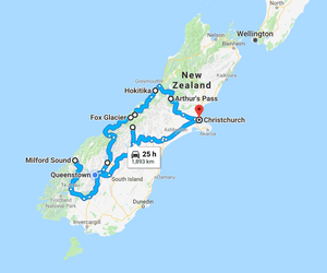 New Zealand South Island 10 Day Road Trip