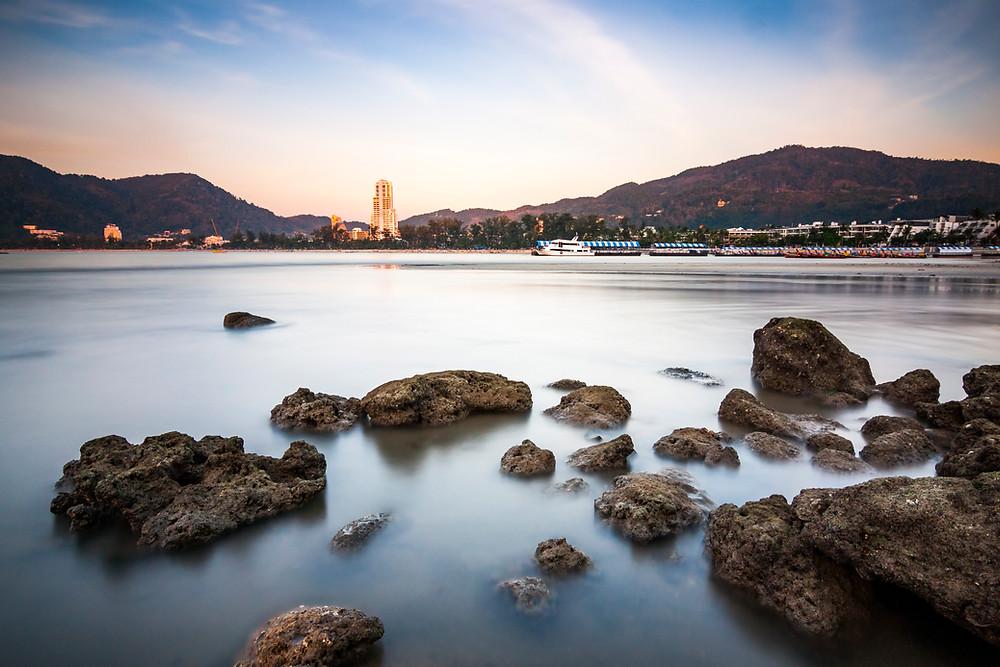 Patong Beach, Phuket, Thailand at Sunset