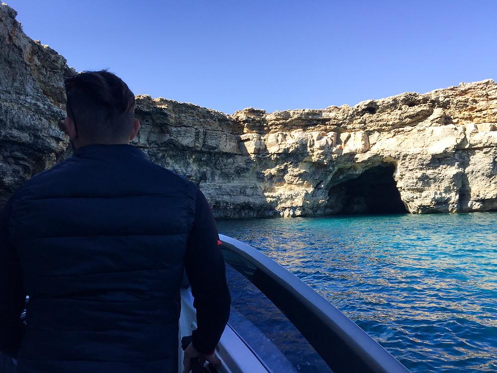 Comino Island, Blue Lagoon Boat Trip, Caves and Coves, Malta, Mediterranean Sea
