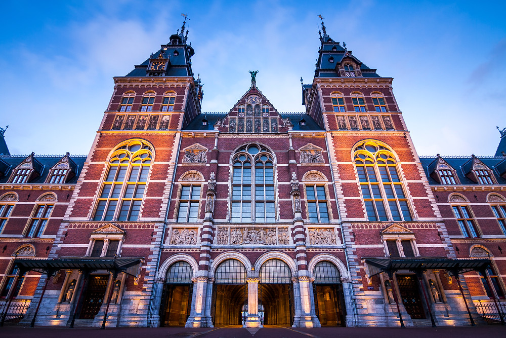 Sunrise at the Rijksmuseum, Amsterdam, Netherlands