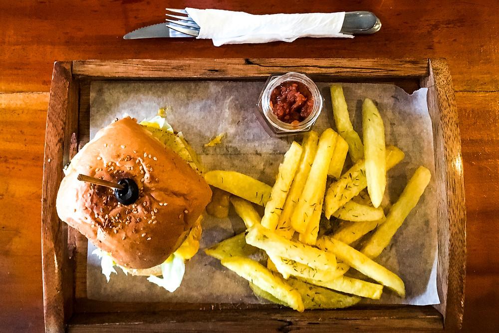 Vegan Burger At Shaka Bohol, The Philippines